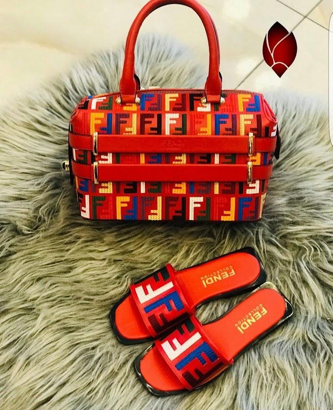 Fendi bag and slippers
