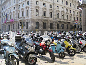 Motorcycles in Milan