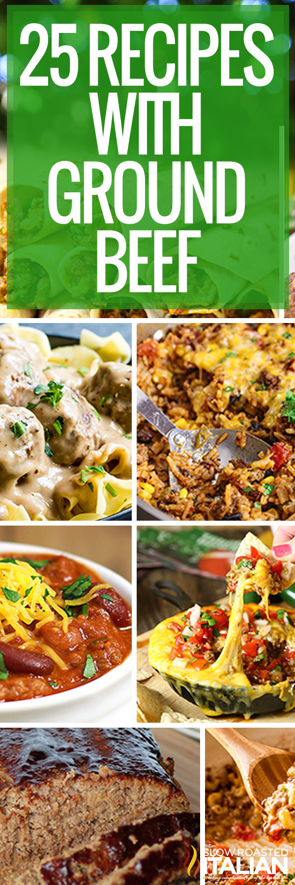 collage: recipes with ground beef