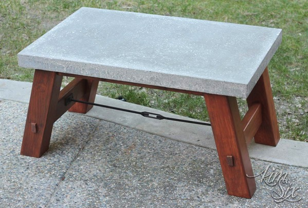 Pottery Barn Inspired Concrete Top Coffee Table The Kim Six Fix - Pottery barn concrete coffee table