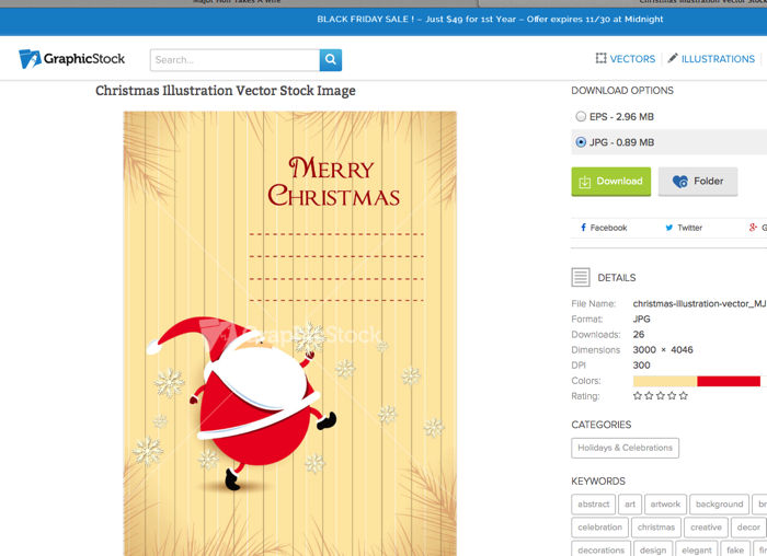 Santa Tags on Graphic Stock
