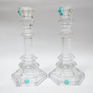 Tiffany & Co. Crystal Candlestick Pair