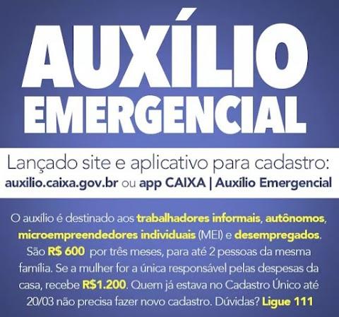 Plataforma para cadastrar no auxílio emergencial já está disponível