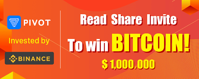 Earn Bitcoin on Pivot app for reading, sharing, and inviting of friends