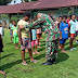 Prajurit Satgas Yonif 754 Kostrad Latih Kedisiplinan Anak-Anak Kampung Trimuris