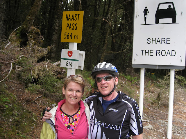Successfully rode our bikes over the top of Haast Pass