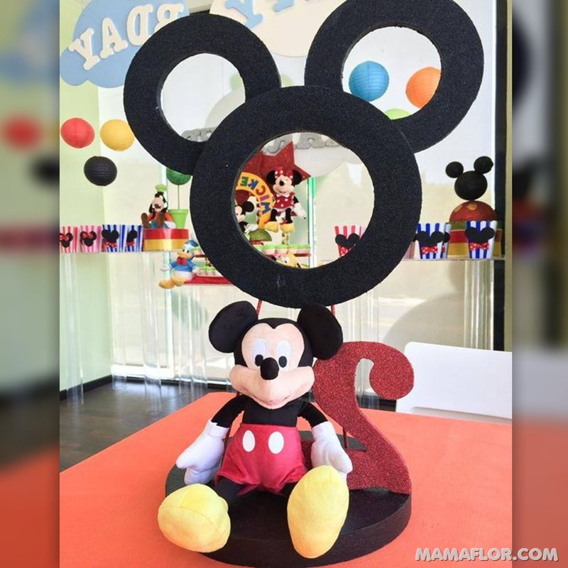 centro de mesa mickey y minnie mouse - 29