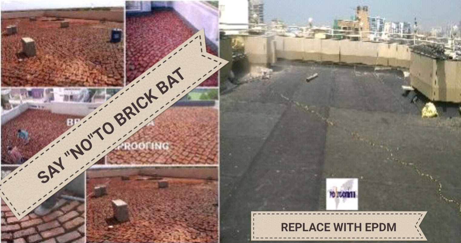 Avoid Using Brick Bat Coba As Waterproofing