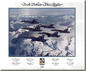 Blue Angel 1989 F-18 Poster(Reduced)