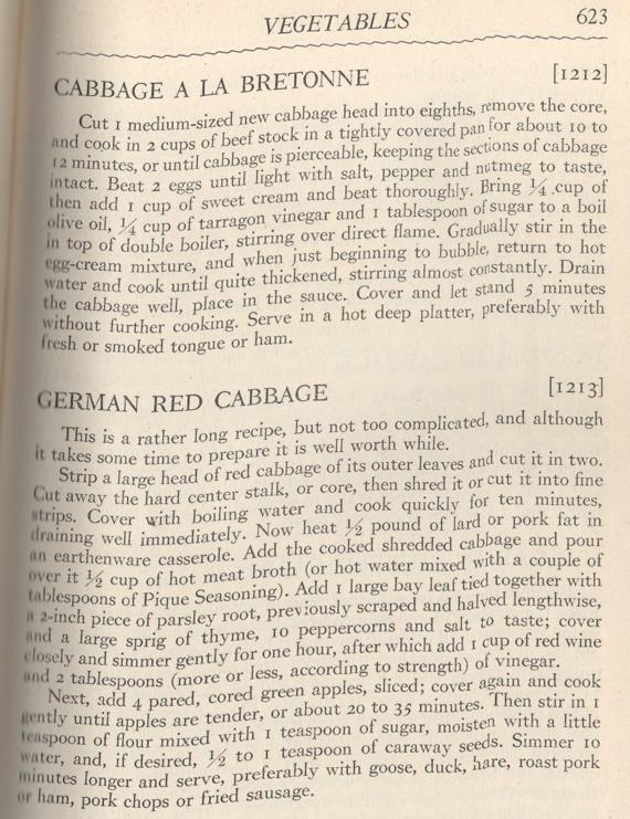 Cabbage a la Bretonne | Louis P. DeGouy