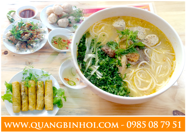 Minh họa set ăn cho 02 người tại Quảng Bình Ơi quán