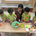 Healthy Bhel Day Celebrated by Playgroup Morning Section at Witty World, Chikoowadi (2017-18)