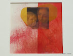 Andachtsbild, Papier, Rotstift, Folie 2004