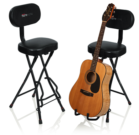 When itu0027s time to take a break fold out the guitar stand and slip your guitar on to the finish friendly rubberized arms and rest the neck against the soft ...  sc 1 st  Sound Technology News Blog - blogger & Gator Frameworks introduce the GFW-GTR-SEAT Combination Guitar ... islam-shia.org