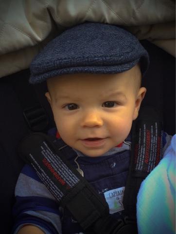 baby tweed flatcap