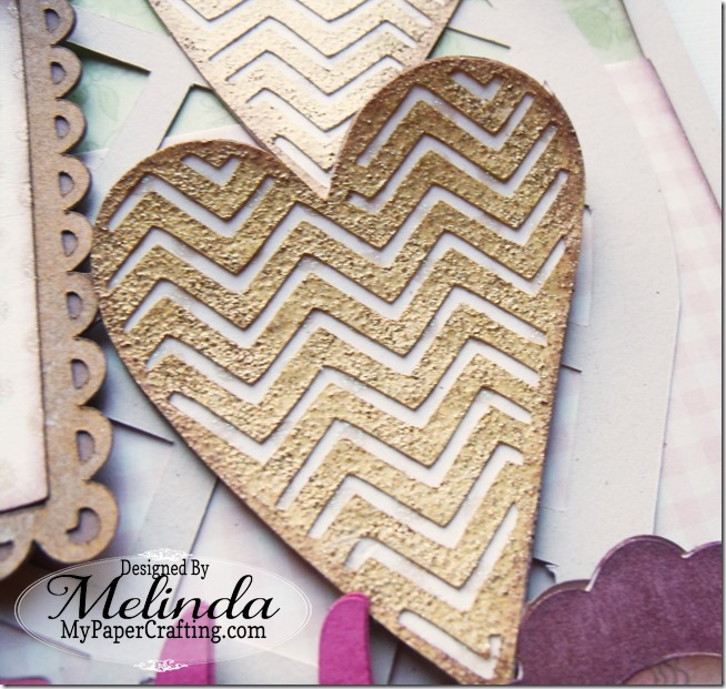 Embossed Chevron Heart