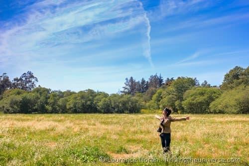 Jess in field Fiscalini preserve Cambria California