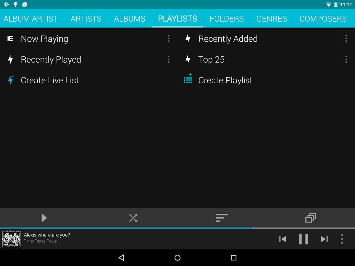 Rocket Music Player- screenshot