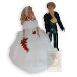 16. kép: Esküvői torták - Menyasszony és vőlegény esküvői torta