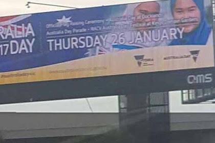 Warga Australia Galang Dana Untuk Billboard Bergambar Wanita Berhijab Yang Dicopot, Hasilnya Bikin Banyak Orang Terpana