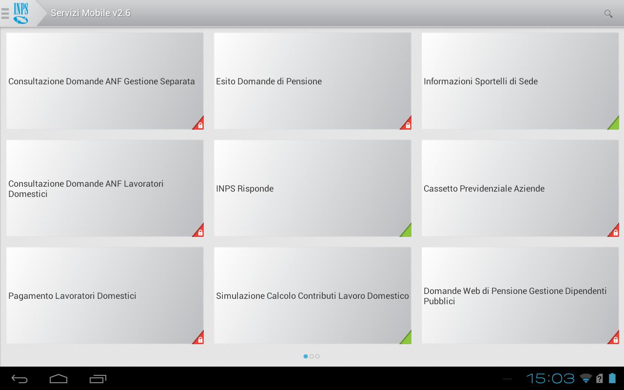 INPS Servizi Mobile per Tablet- screenshot