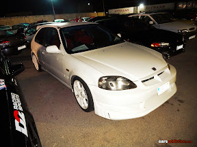 Modded Civic with C-West bumpers