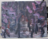 Le Grand Jardin nocturne 3 110X95,huile/toile