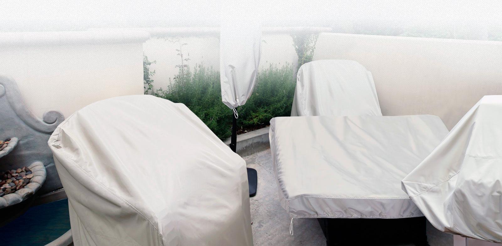 Cubiertas y fundas para muebles de terraza y jardin