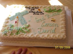 Baptism Cake title=