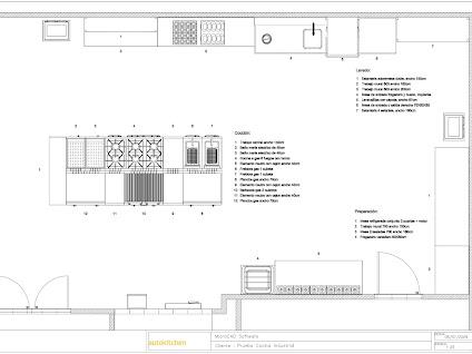 Planos de cocinas industriales realizados con el programa for Programa para diseno de planos