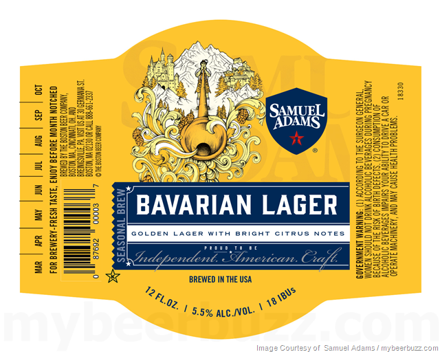 Samuel Adams Adding Bavarian Lager Cans & Bottles