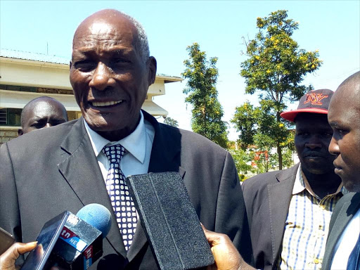 The dubbed Chairman of Men association and a Controversial Eldoret businessman Jackson Kibor, 88