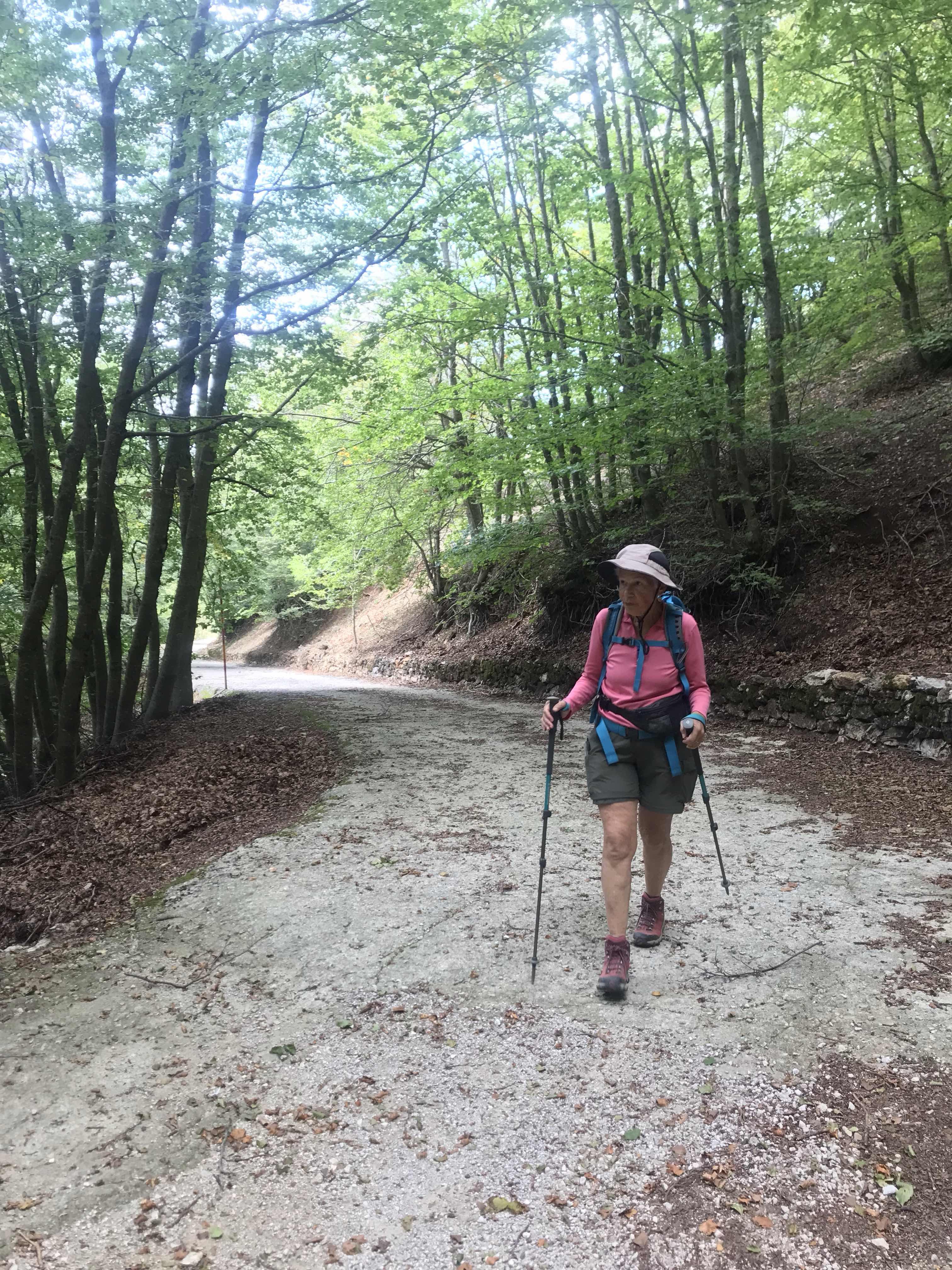 heading uphill