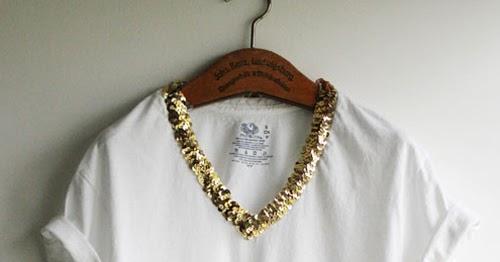 d9996868fc3 Bruna Palesco ∞: Camiseta branca com decote bordado de lantejoulas
