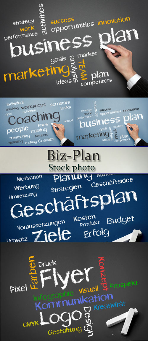 Stock Photo: Biz-Plan