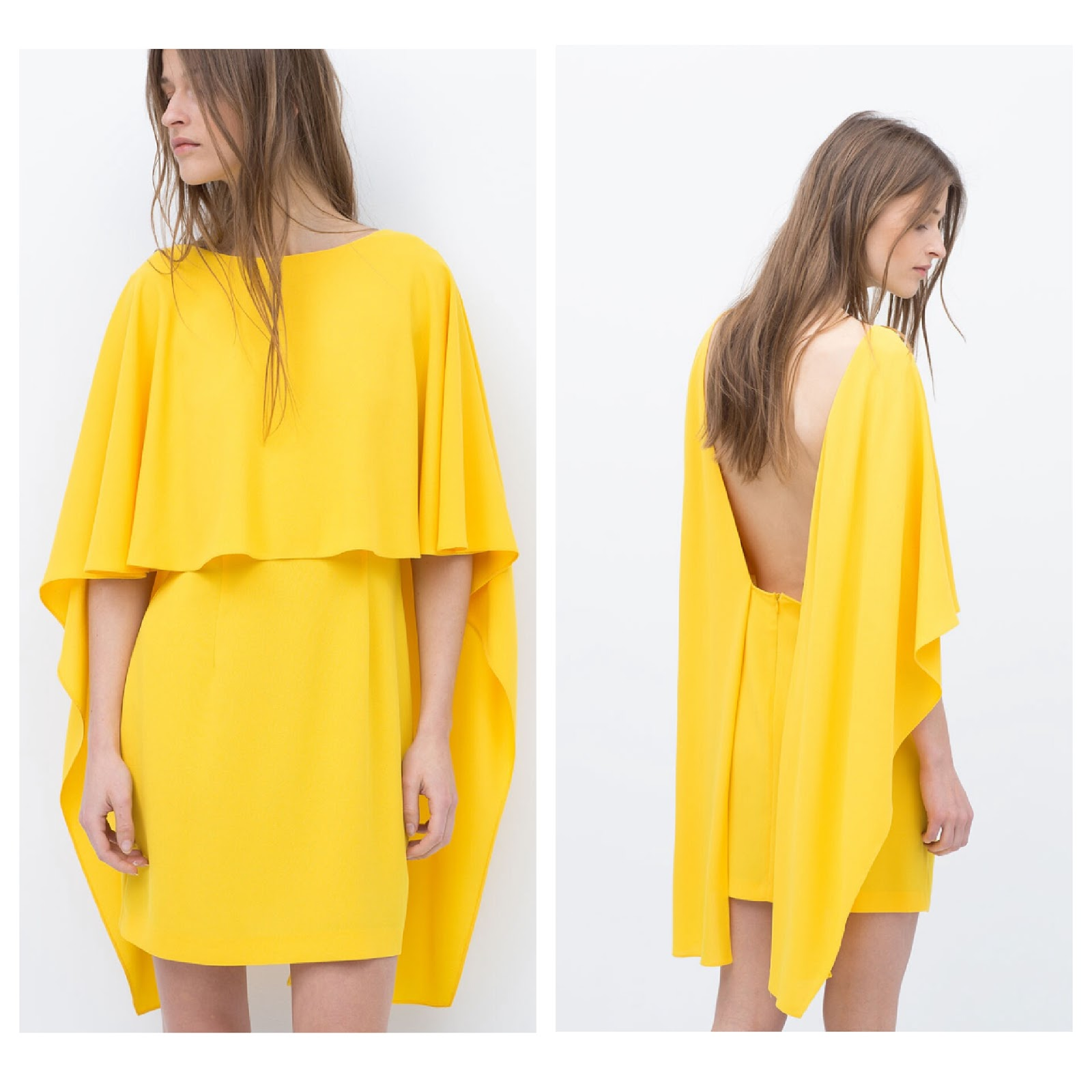 Zara Yellow Cape Dress Just The F Word