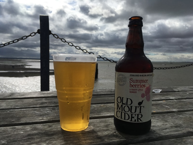 Whitstable Pilsner and Old Mout Cider, Lobster Shack, Whitstable