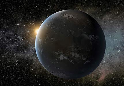 ilustração de um exoplaneta