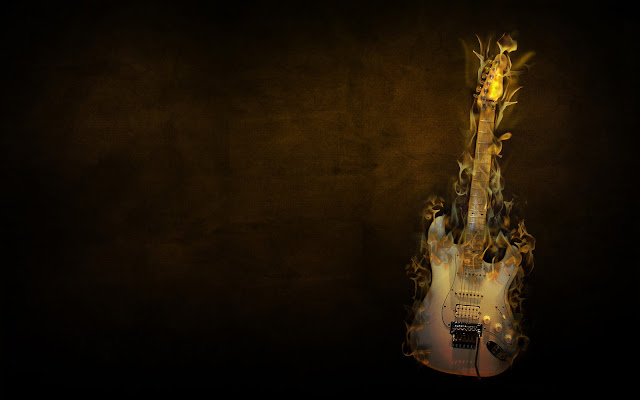 wallpaper guitar fender. Guitar Wallpaper - Flaming