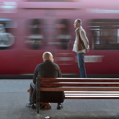 """1. plads december 2018, foto: Palle Smith-Petersen. Tema: """"Bevægelse på station"""""""