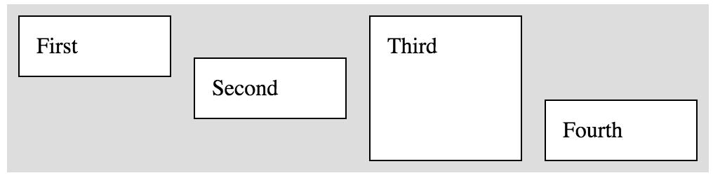 Horizontal Box with items aligned individually