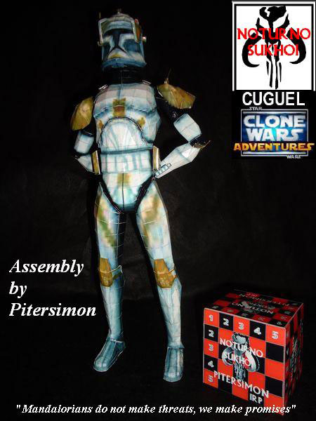 Star Wars Clone Commander Cody Papercraft