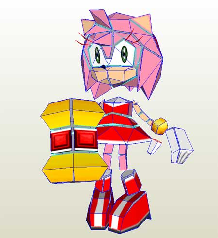 Amy Rose Rosy the Rascal Papercraft