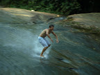 Surfing on the natural slide