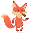 Cartoon Funny Fox Free Download Vector CDR, AI, EPS and PNG Formats