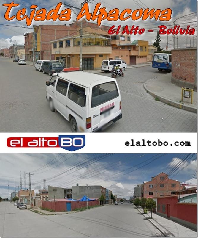 Tejada Alpacoma: zona de Distrito 1 de la ciudad de El Alto