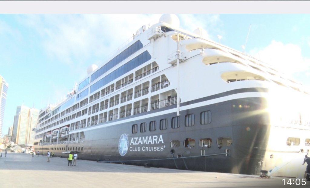 Azamara cruise ship docking in Tanzania. PHOTO | BONGO5
