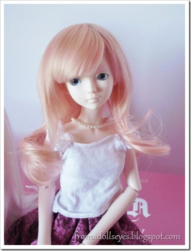 Hikaru wearing a For My Doll wig in Pink Cream
