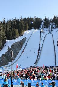 Groomers preparing the ski jump