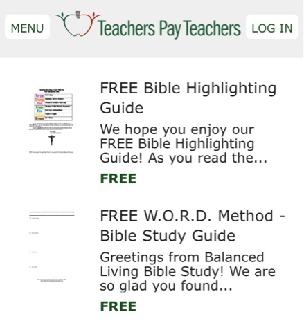 Balanced Living Bible Study: The W O R D  Method of Studying